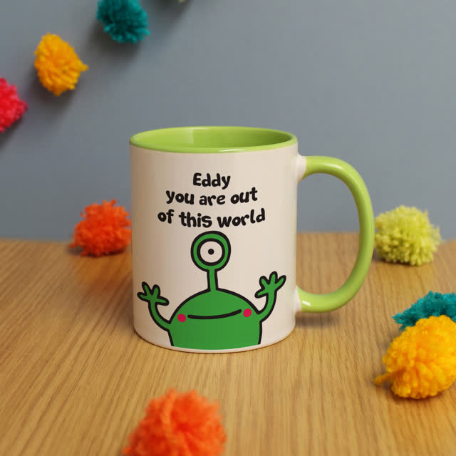 Cosmic Alien Green Inside Mug