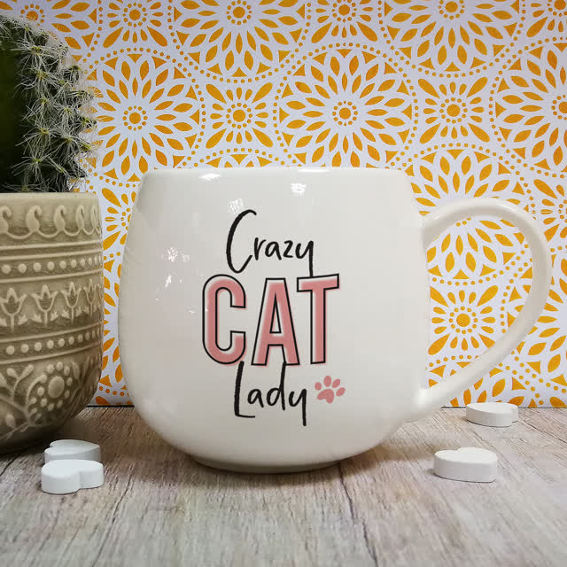 Crazy Cat Lady Hug Mug