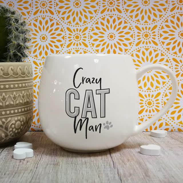Crazy Cat Man Hug Mug