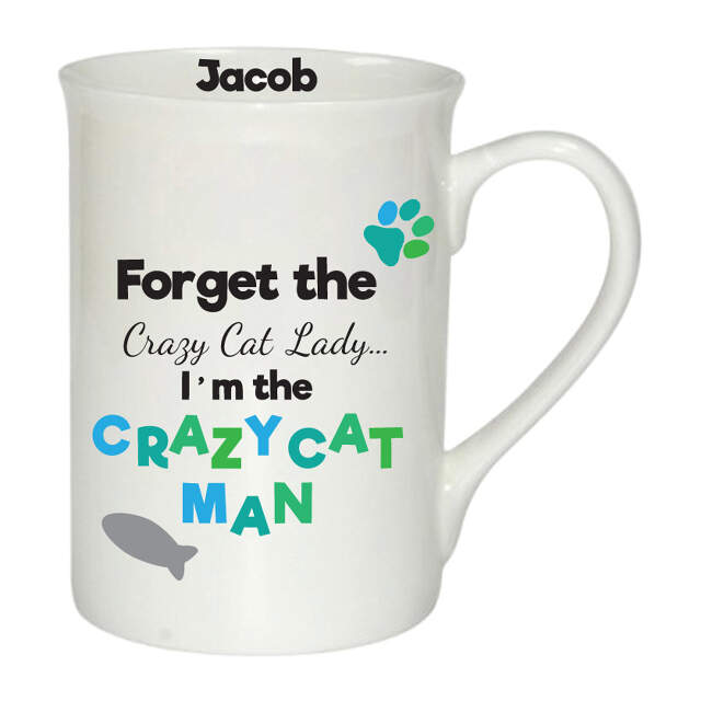 Crazy Cat Man Windsor Mug