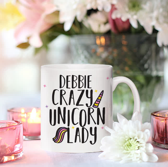 Crazy Unicorn Lady Mug