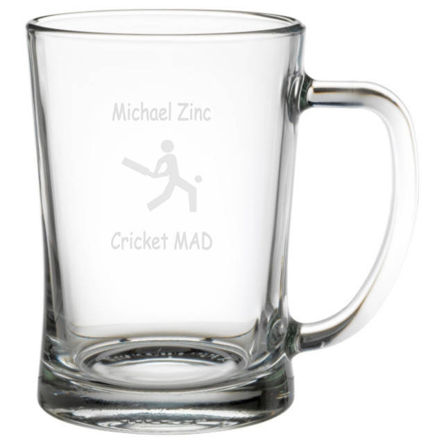 Cricket Mad Personalised Tankard