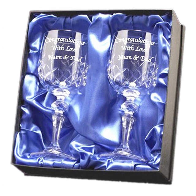 Crystal Wine Glasses In Presentation Box