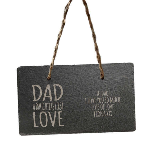 Daughters First Love Hanging Slate