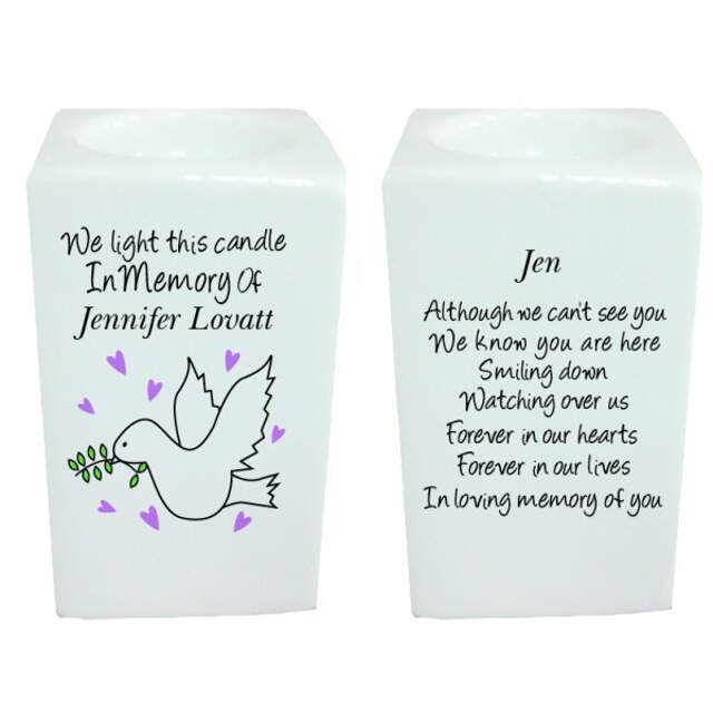 Doves Memorial Tea Light Holder