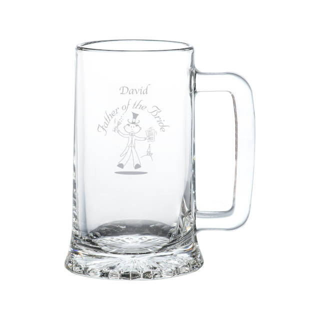 Etched Wedding Character Stern Tankard