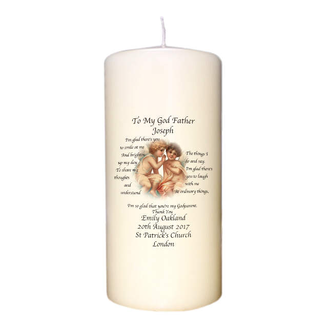 First Communion Blessing Candle