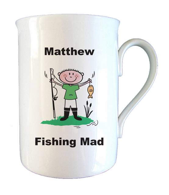 Fishing Mad Bone China Mug