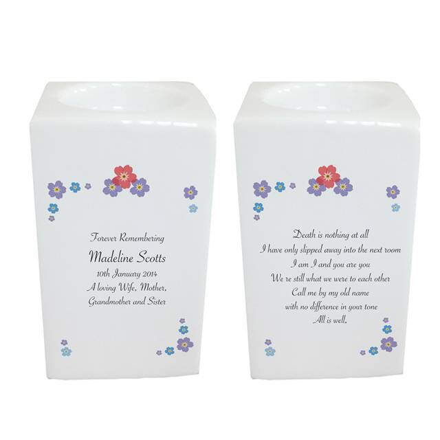 Forget Me Not Tea Light Holder