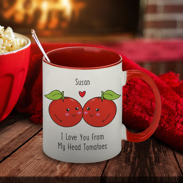 From My Head Tomatoes Red Inside Mug