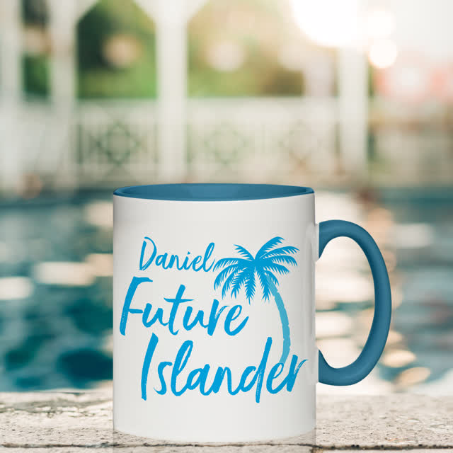 Future Islander Blue Inside Mug
