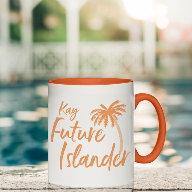Future Islander Orange Inside Mug