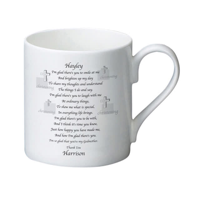 Godmother Poem Bone China Mug