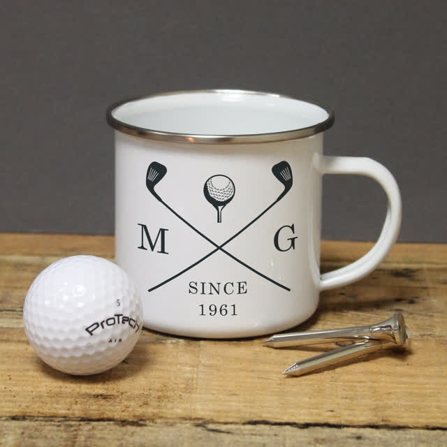 Golf Clubs Enamel Mug