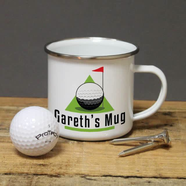 Golf Green Enamel Mug