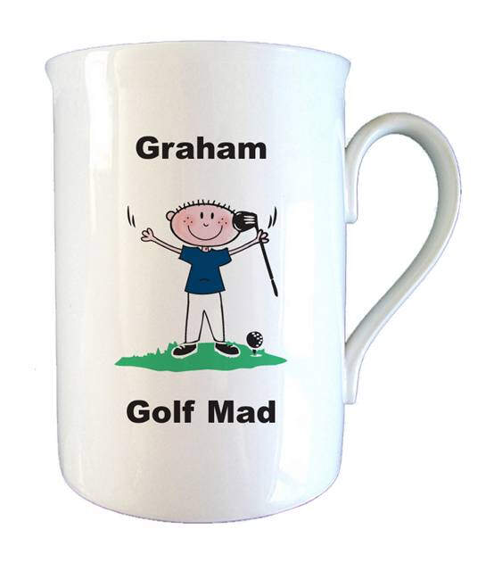Golf Mad Bone China Mug