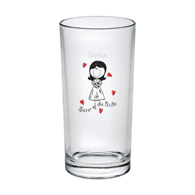 Graffiti Wedding Character Hi Ball Glass
