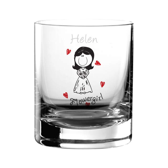 Graffiti Wedding Character Juice Glass