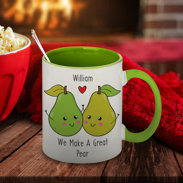 Great Pear Green Inside Mug