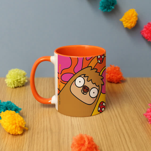 Groovy Sloth Orange Inside Mug