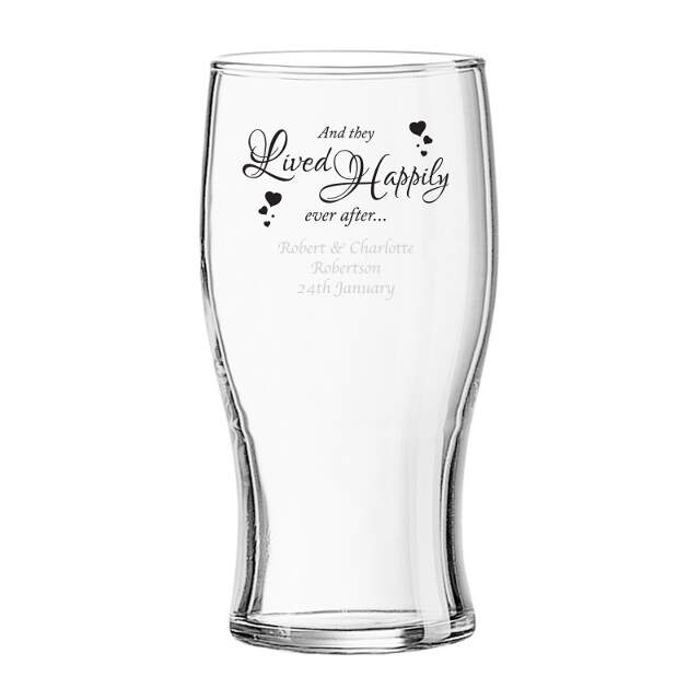 Happily Ever After Tulip Pint Glass