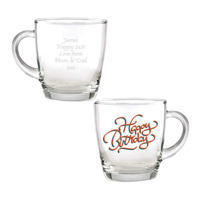 Happy Birthday Glass Mug