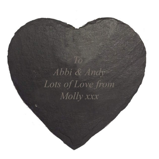 Heart Slate Cheese Board