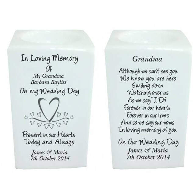 Hearts Memorial Tea Light Holder