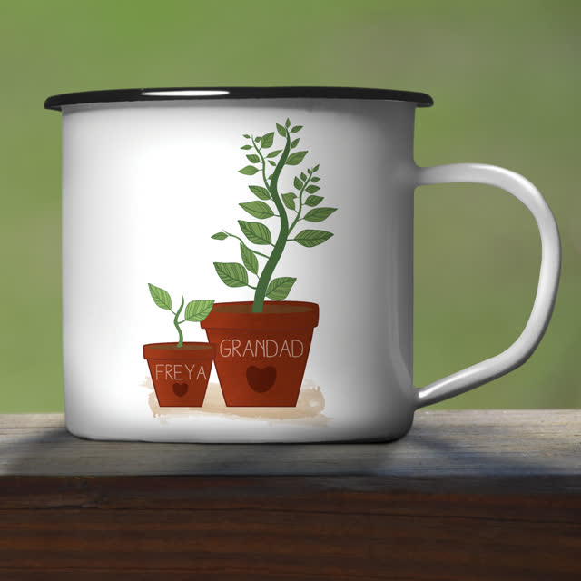 Helping Me To Grow Enamel Mug