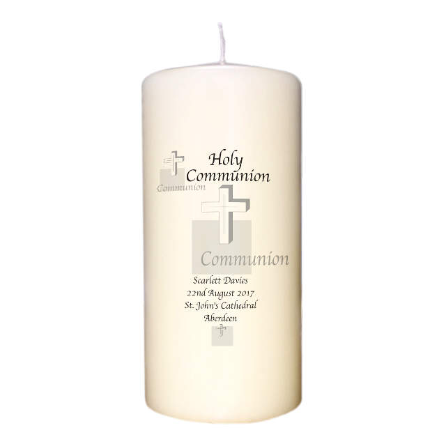 Holy Communion Cross Candle