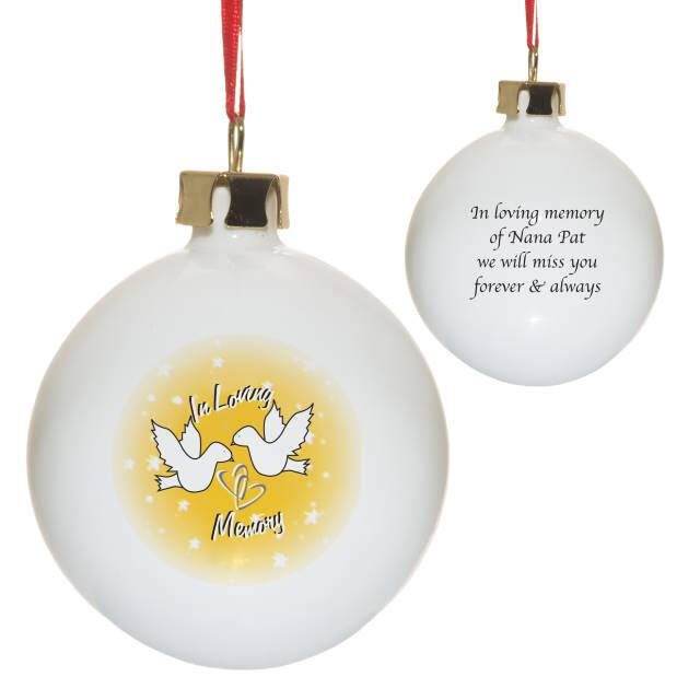 In Loving Memory Bone China Bauble