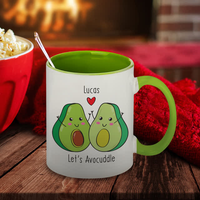 Let's Avo-Cuddle Green Inside Mug