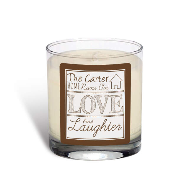 Love and Laughter Vanilla Scented Candle