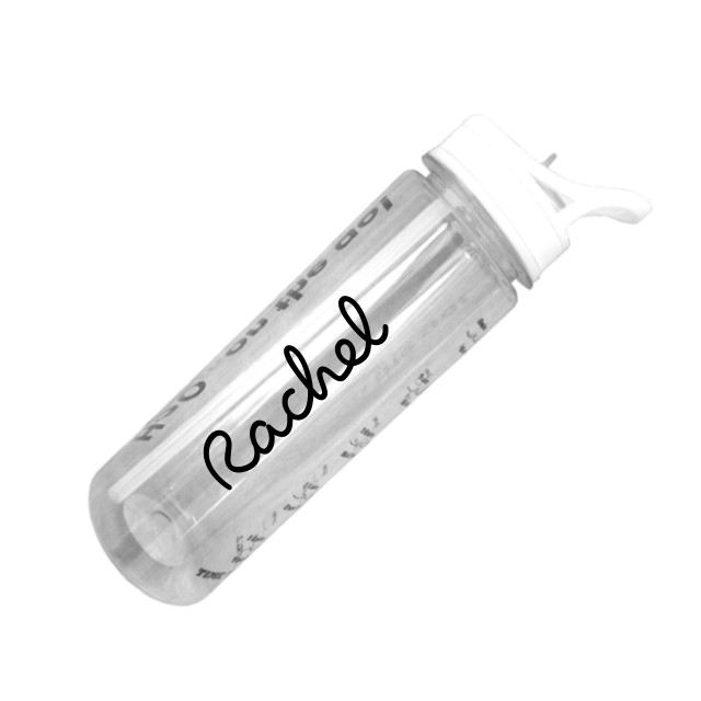 Personalised water tracker bottle white top
