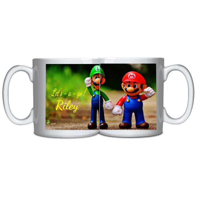 Mario and Luigi Personalised mug