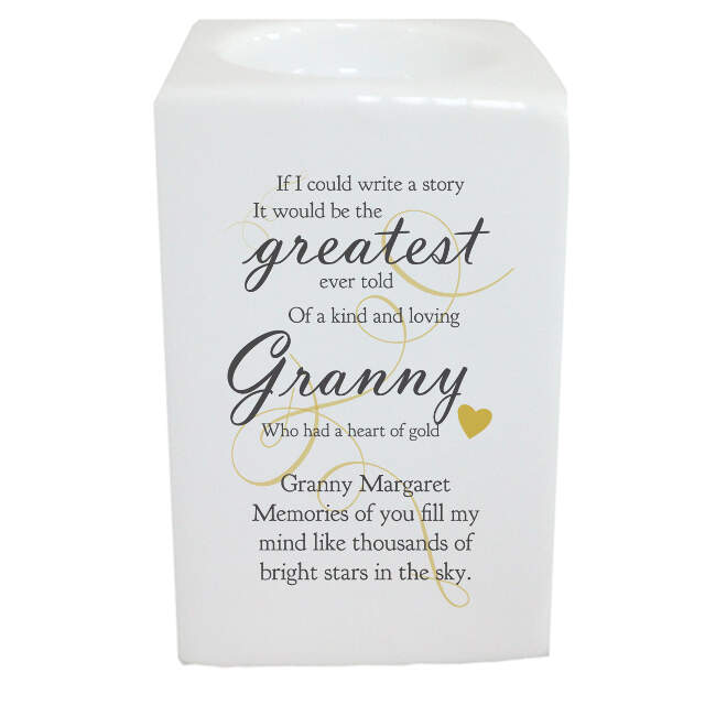 Memorial Greatest Story square tea light holder