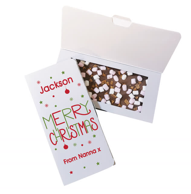 Merry Christmas Milk Chocolate Card