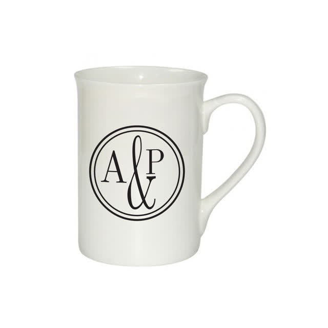 Monogram Circle Bone China Mug