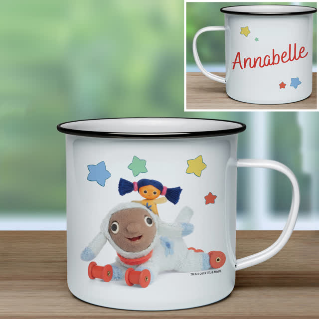 Moon and Me Little Nana & Lambkin Enamel Mug