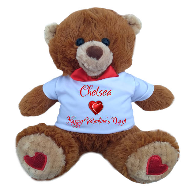 Mr Fluffles Personalised Valentines Teddy Bear