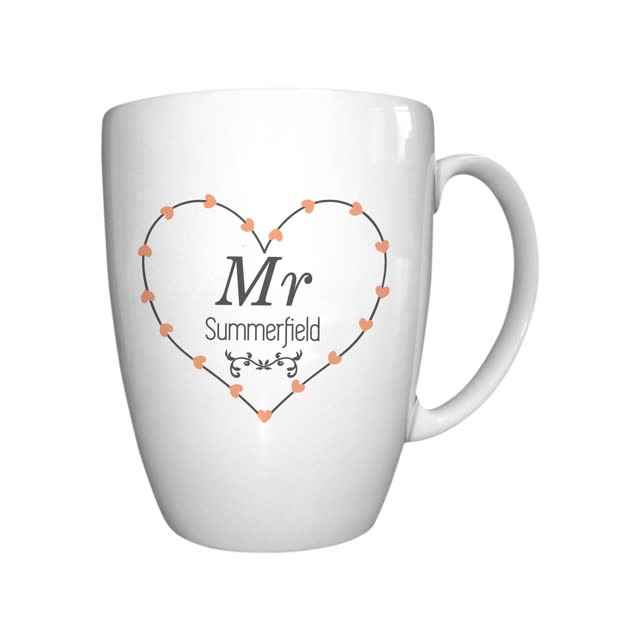 Mr Heart Conical Mug