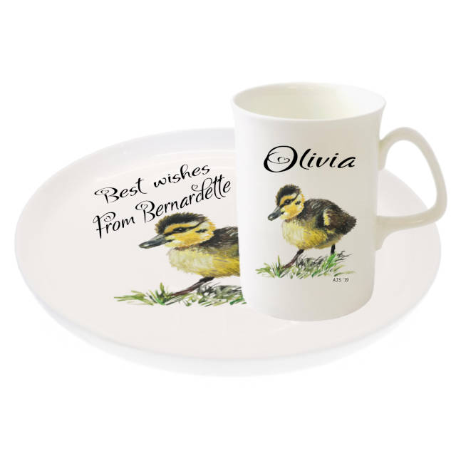 Mug And Biscuit Tray Duckling By Amanda Steart