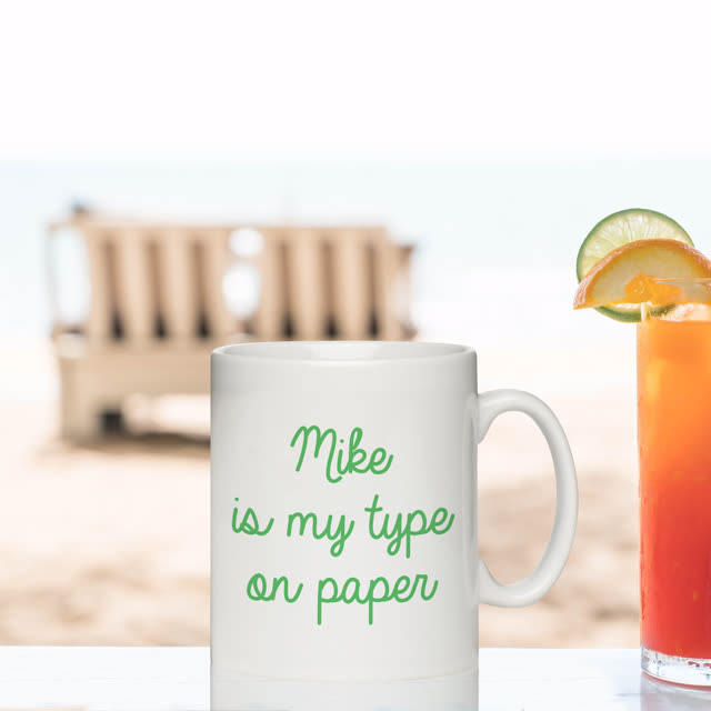 My Type on paper Sub Mug