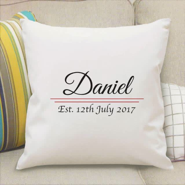 Name Established Cushion Cover