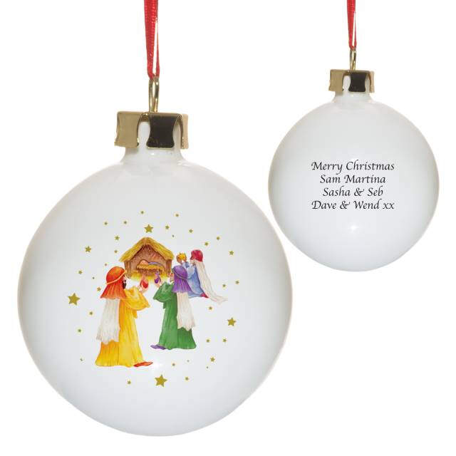 Nativity Scene Bone China Bauble