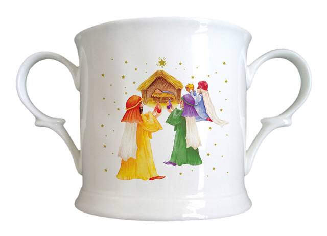 Nativity Scene Bone China Loving Cup