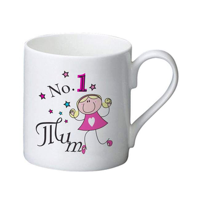 No1 Mum Bone China Mug