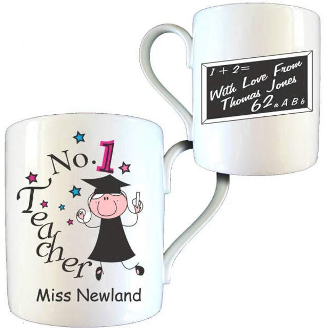 No1 Teacher Female Bone China Mug