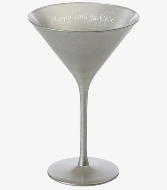 Olympic Silver Martini Glass