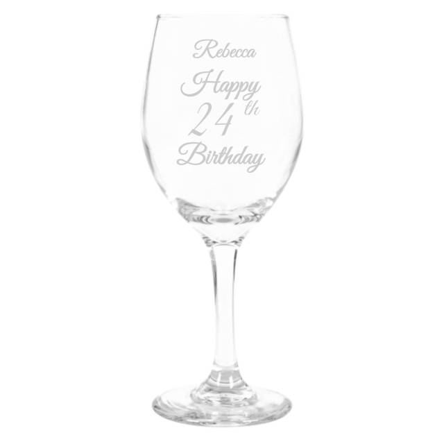 Personalised Age Birthday Wine Glass